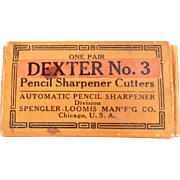 Old, Dexter No.3, Replacement Pencil Sharpener Cutters