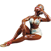 SOLD Old, Porcelain Bathing Beauty - Black Memorabilia