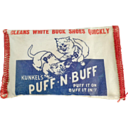 Old, Puff-N-Buff Pad for Cleaning White Buck Shoes - Kitten Graphics