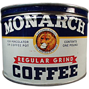 Old, Monarch Coffee Tin - 1# Key Wind