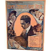 Old Sheet Music - Song from When Dreams Come True