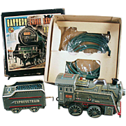 Old, Battery Operated Toy Train - Express Train with Original Box