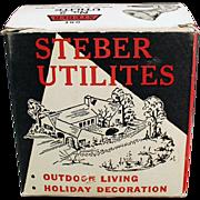 Old, Indoor/Outdoor Light Fixture with Original Box - Steber Utilite