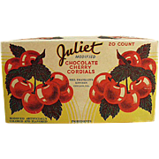 "Old Candy Box - ""Juliet"" Cherry Cordials by Mrs. Franklin's Kitchen of Chicago"