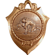 Old Sports Medal - Nice Wrestling Image