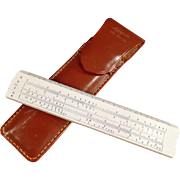 SOLD Old, Pocket Slide Rule with Pouch - Lafayette #99-7030