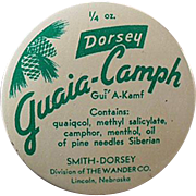 Old Medical Tin - Guaia-Camph