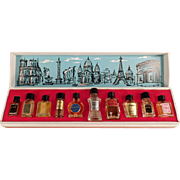 Old, Les Grands Parfums de France - 10 Miniature Perfume Bottles in Box