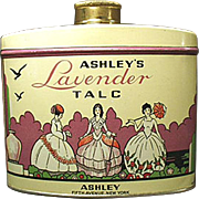 Old Powder Tin -  Ashley's Lavender Talc