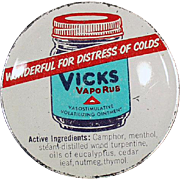 Old, Vicks Vaporub Tin with Nice Graphics