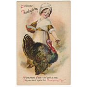 Old, Thanksgiving Postcard - Very Sweet Graphics