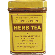 Old, Laxative Tin - American Company, Herb Tea
