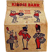 Old Advertising Bank - Pet Milk Carton with Brownies