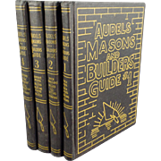 Old, Audels Masons & Builders Guide - 4 Book Set - 1950