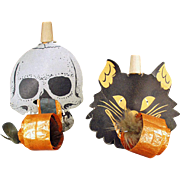 Old, Halloween Whistles - Black Cat & Skull Noise Makers