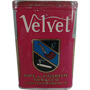Old, Velvet - Pipe & Cigarette Tobacco Tin