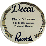 "Old, ""Decca"" Record Duster - Celluloid"
