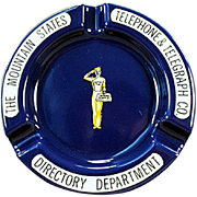 Old, Yellow Page Directory, Advertising Ashtray