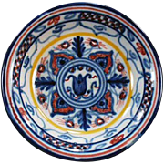 "Colorful, Old Pottery Dish - ""Sevilla"" - Nice Little Accent Piece"