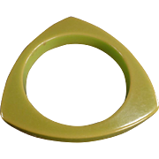 Vintage, Bakelite/Catalin Triangular Bangle Bracelet