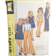 Vintage McCall's Pattern #4139 - Children's Fashions - 1974, Size 12