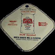 Old, Dakota Maid Flour, Advertising Potholder- North Dakota Mill and Elevator Co.