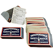 Vintage Playing Cards Advertising the Independence Safety Match