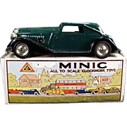 Vintage, Tri-ang Minic, Wind Up Car - Vauxhall Cabriolet with Box