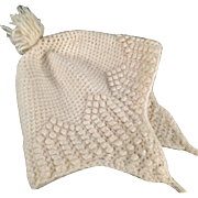 Vintage, Crocheted Baby Bonnet - Cream Colored