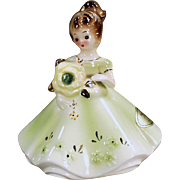 Vintage Josef Original Figure - August Birthday Girl - Peridot