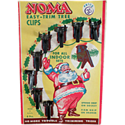 Vintage, Noma Christmas Tree Light Clips with Santa on Original Packaging