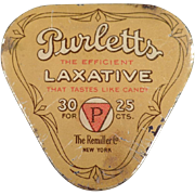 Vintage Laxative Tin - Purletts - Early 1900's