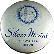 Old Typewriter Ribbon Tin - Silver Medal