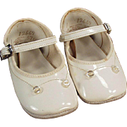 Vintage Baby Shoes - White, Mary Jane Style