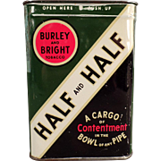 Vintage, Half and Half Tobacco Tin