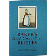 Vintage, Baker's Best Chocolate, Recipe Booklet