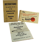 Vintage, Remington Shotgun Instruction Booklet - Wingmaste Model 870