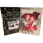 Two, Vintage, Holiday Books - A Yankee Christmas & The Spirit of Christmas