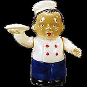 Vintage, Wind Up Celluloid Toy - Black Waiter - O.J.