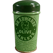 Vintage, Dr. Edwards' Laxative Tin - Large Size