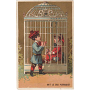 Vintage Trade Card - George Caffe, French Goods