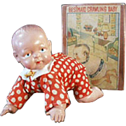 Vintage, Wind Up Celluloid Baby Doll with Original Box