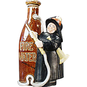 Vintage, Schafer & Vater, Figural Flask - Fireman with Fire Water