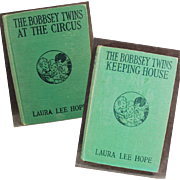 "Two ""Bobbsey Twins"" Books - Keeping House & At the Circus"