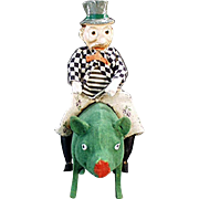 "The Ultimate St. Patrick's Day Candy Container ""Paddy and the Pig"" - Early 1900's, G"