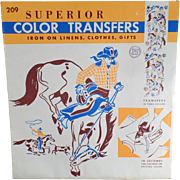 Vintage, Iron On Transfers - Assorted Designs Including Western Theme
