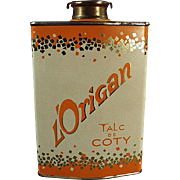 Vintage Talc Tin  - Coty L'Origan