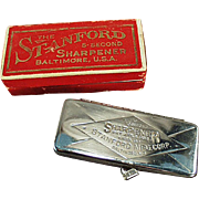 "Vintage Razor Blade Sharpener - Stanford ""5 Second"" with Original Box"