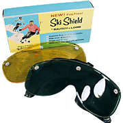 Vintage, Bausch & Lomb, Ski Shield with Two Lenses & Original Box