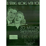 Vintage Sheet Music- I'll String Along With You